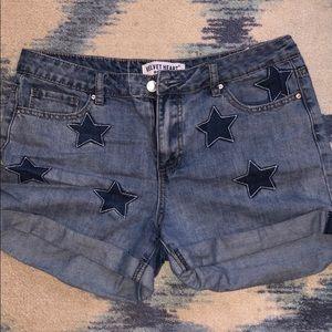 velvet heart stars jean shorts 28